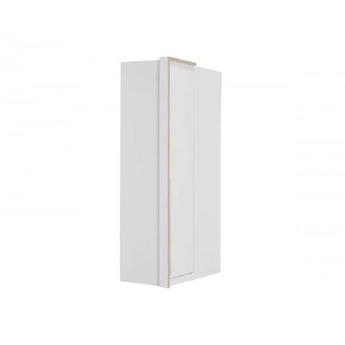 Γωνιακή ντουλάπα Kaliopa Δρυς Λευκό