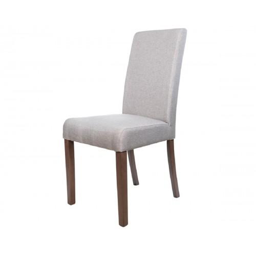 Ετοιμοπαράδοτη καρέκλα Latina Καρυδί με γκρι ύφασμα