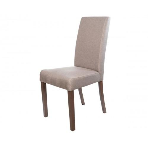 Ετοιμοπαράδοτη καρέκλα Latina Καρυδιά και ύφασμα μπεζ