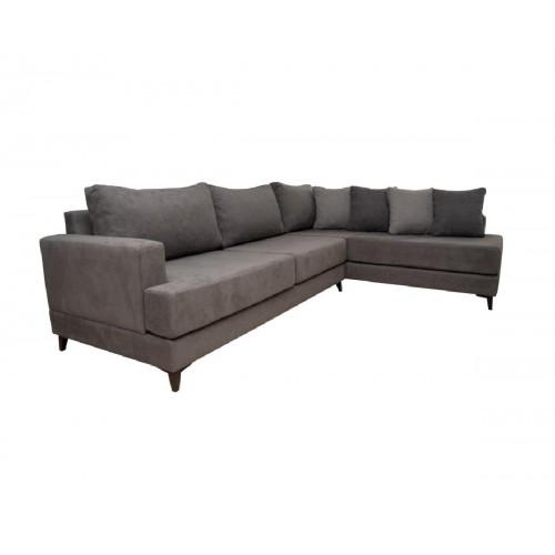 Γωνιακός καναπές Eros Γκρι αριστερός