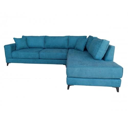 Γωνιακός καναπές XENIA Τιρκουάζ Αριστερή φορά