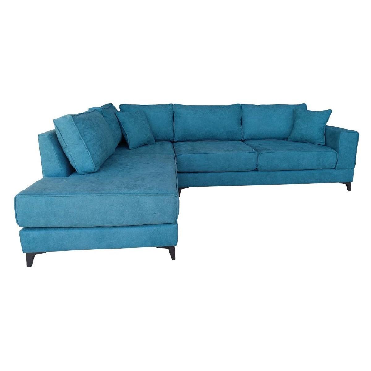 Γωνιακός καναπές XENIA Τιρκουάζ Δεξιά φορά