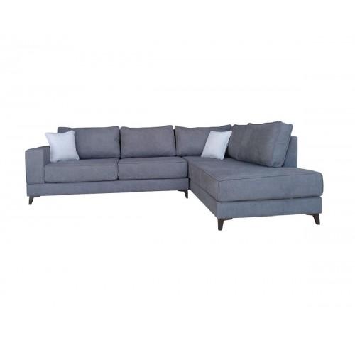 Γωνιακός καναπές XENIA Γκρι Αριστερή φορά