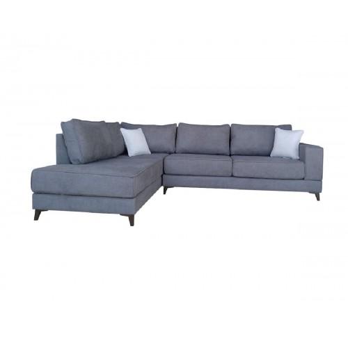 Γωνιακός καναπές XENIA Γκρι Δεξιά φορά