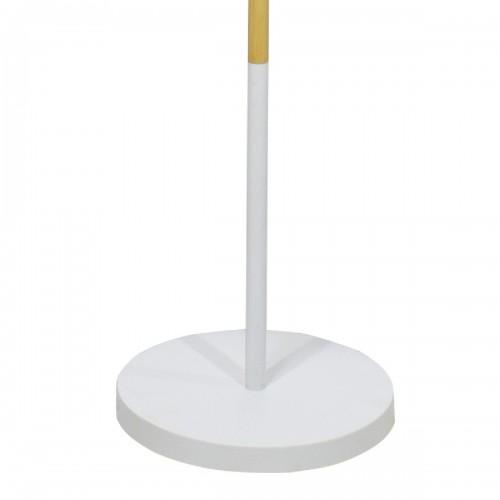 Μεταλλικό φωτιστικό δαπέδου PWL-0005 pakoworld Ε27 με λευκό καπέλο Φ33x149εκ