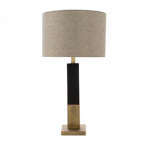 Επιτραπέζιο μεταλλικό φωτιστικό PWL-0940 pakoworld μπρονζέ-μαύρο-γκρι καπέλο 36x36x53εκ
