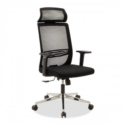 Καρέκλα γραφείου διευθυντή Laken pakoworld mesh μαύρο