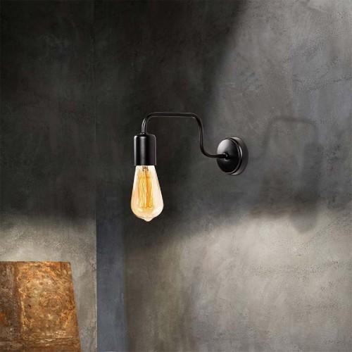 Φωτιστικό τοίχου - απλίκα PWL-0053 pakoworld χρώμα μαύρο 28x4x11εκ
