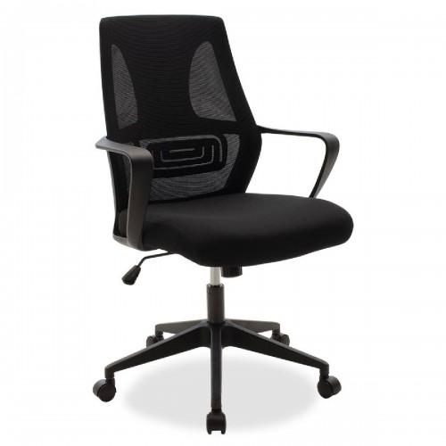 Καρέκλα γραφείου εργασίας Maestro pakoworld με ύφασμα mesh χρώμα μαύρο