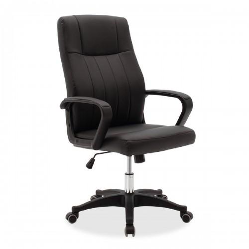 Καρέκλα γραφείου διευθυντή Roby pakoworld με pu χρώμα μαύρο