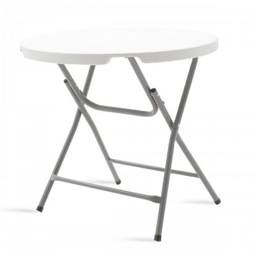 Τραπέζι catering Comfort pakoworld  λευκό στρόγγυλο Φ80x74εκ